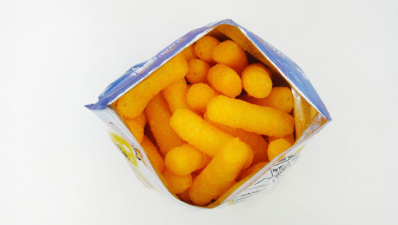 Cheetos open bag